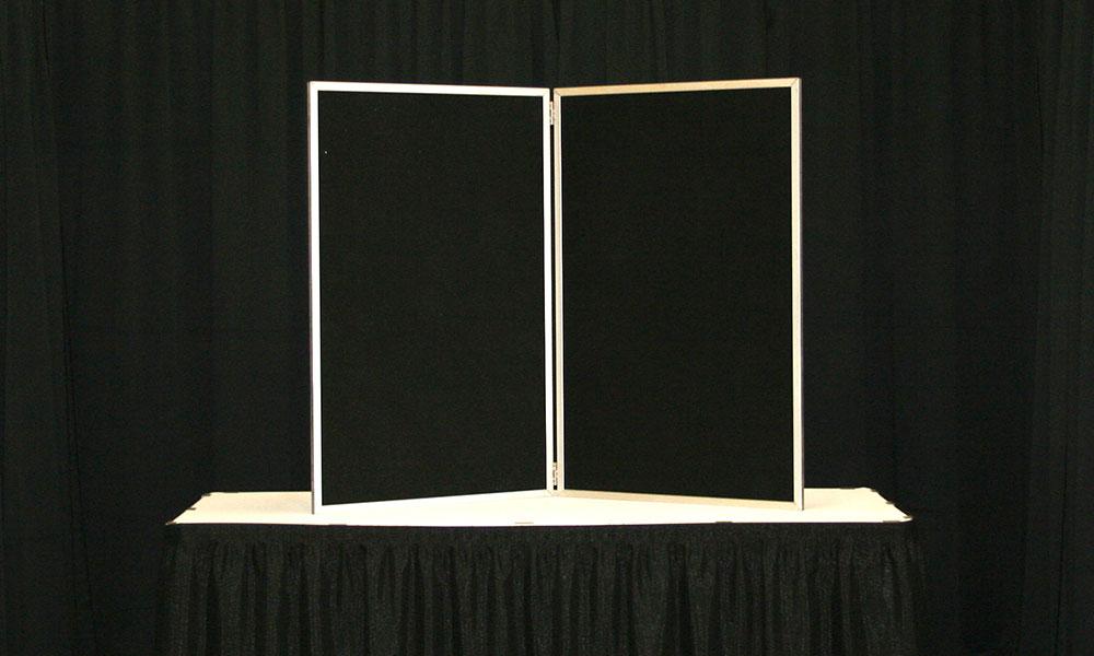 Black - 2 Panel Table Display