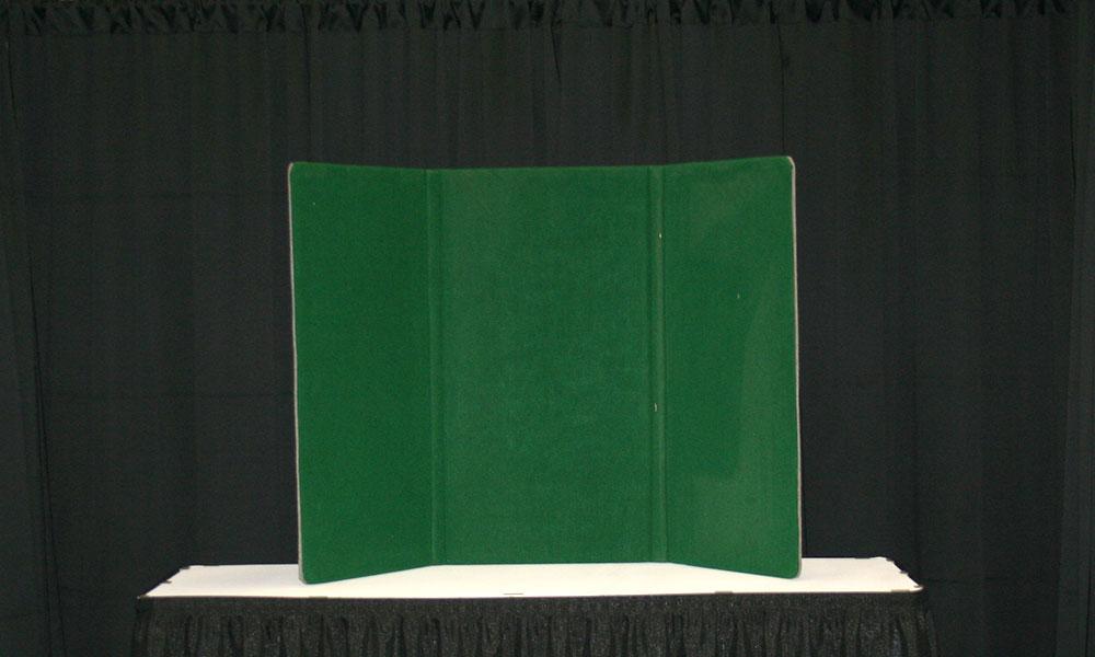Green - 3 Panel Table Display