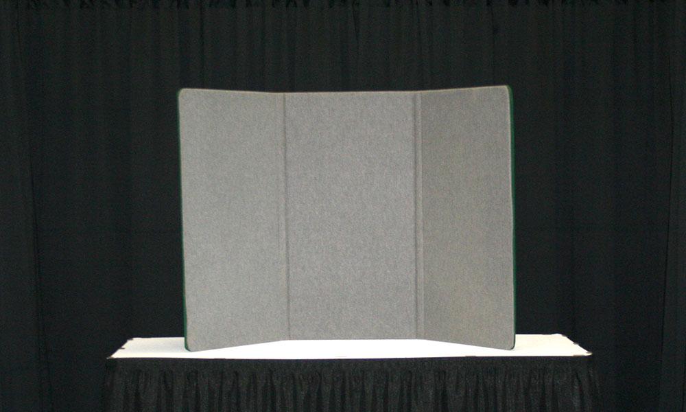 Grey - 3 Panel Table Display