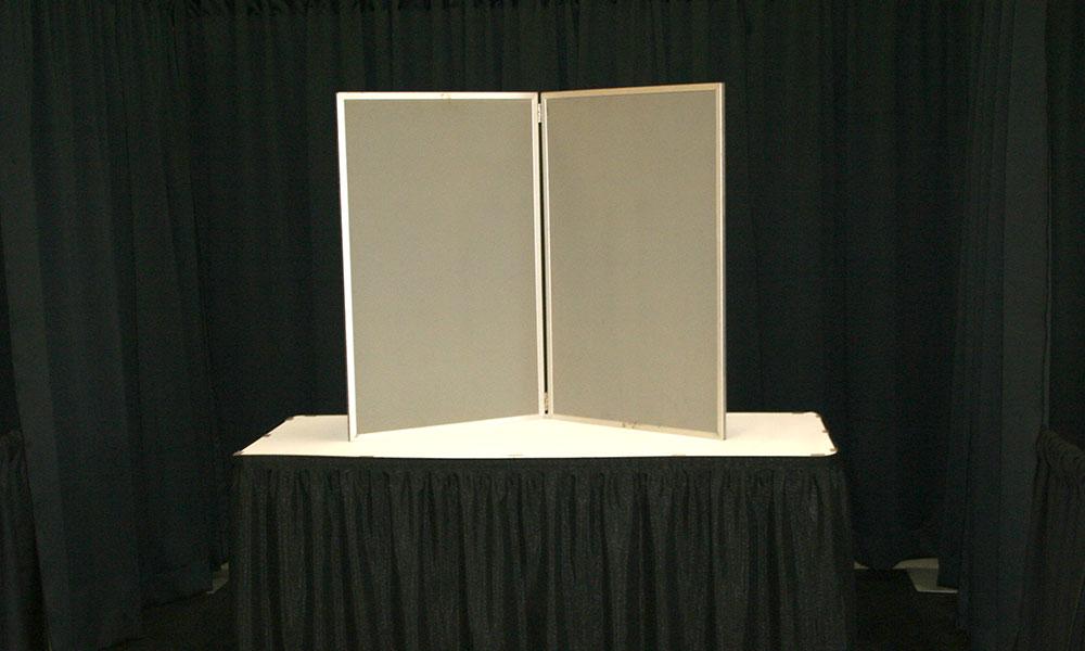 Brown - 2 Panel Table Display