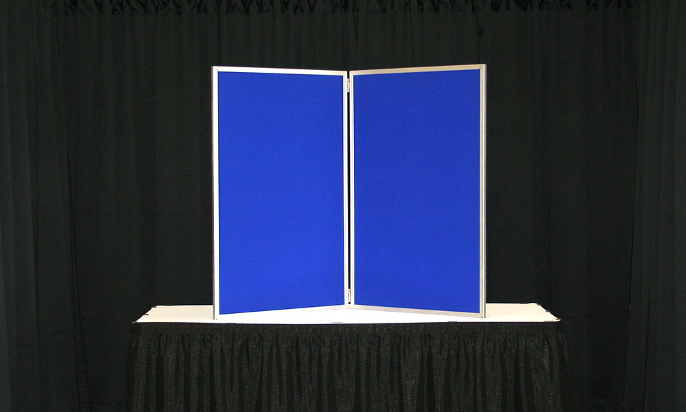 Blue - 2 Panel Table Display