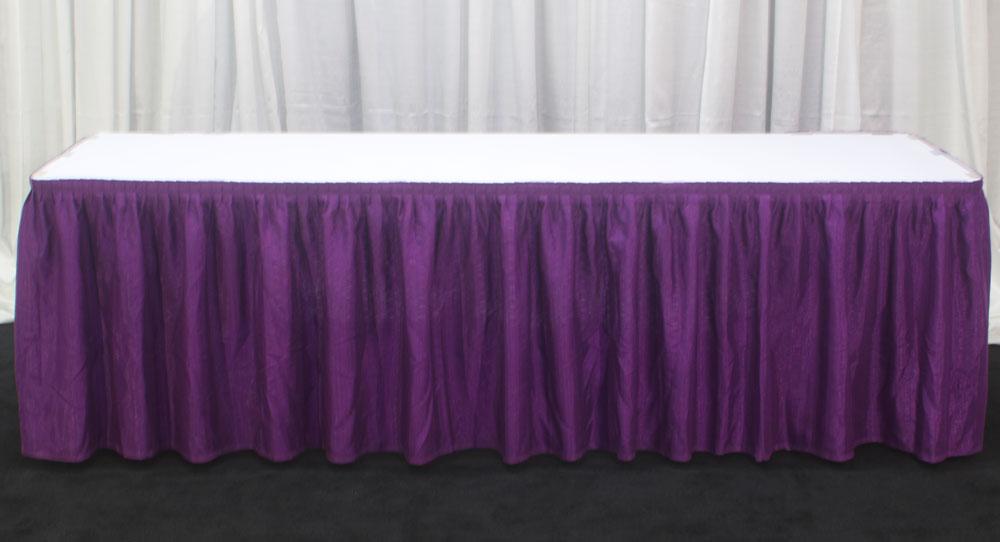 Purple on White